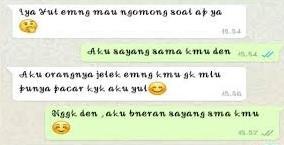 percakapan nembak cowok melalui whatsapp