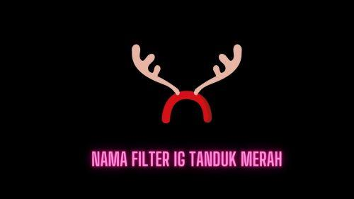 Nama Filter IG Tanduk Merah dan Cara Mendapatkan